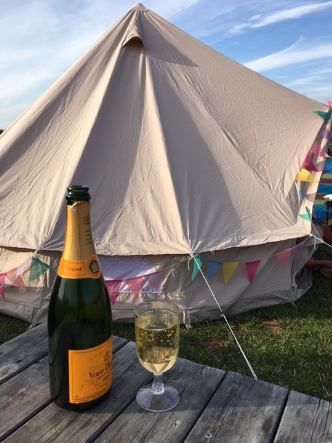 Champagne on Holiday Glamping in a Bell Tent festival tents