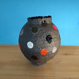 Polka Dot Moon Jar