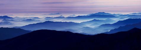 Blue Mountains 2004,107x300cm