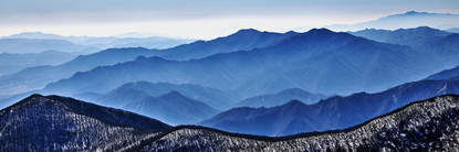 Blue Mountain 2108 50x150cm, Archival Pi