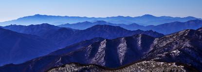 Blue Mountain 2105 107x300cm, Archival P