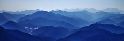 Blue Mountain 2113 50x150cm, Archival Pi