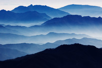 Blue Mountain 2125 107X160cm, Archival P