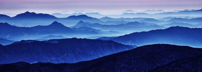 Blue Mountain 2104 107x300cm, Archival P