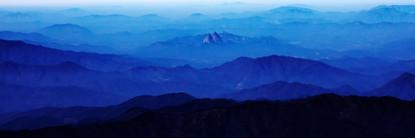 Blue Mountain 2111 50x150cm, Archival Pi