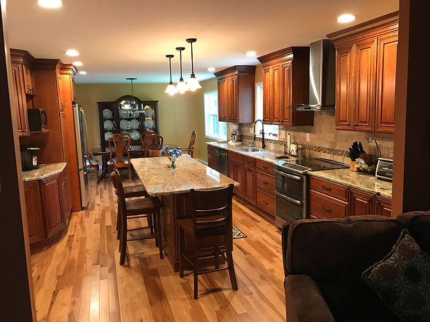 Galley Style Cherry Kitchen
