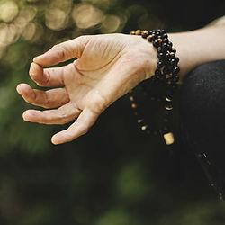 yoga mala beads, mudra