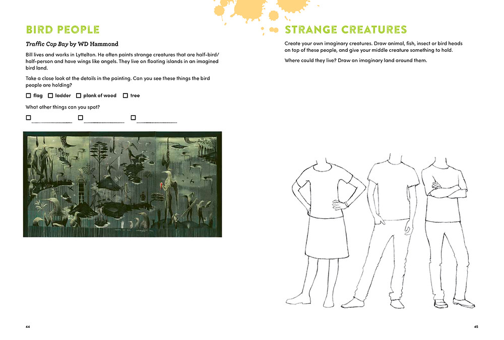 bird people and strange creatures - Bill Hammond