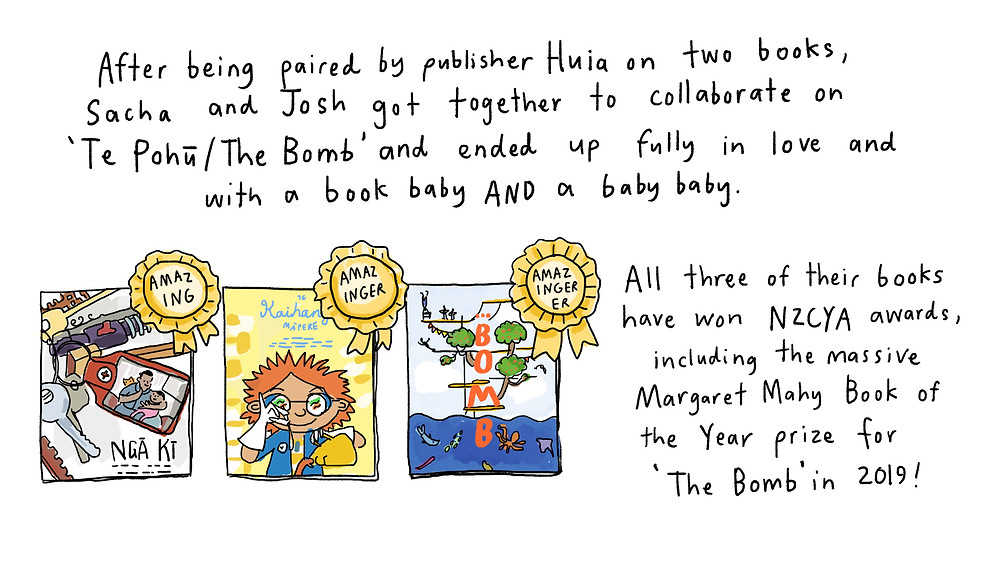 got together to collab on the bomb and had a book baby and a baby boy