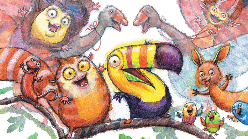 Image from Toucan Can, illustrated by Sarah Davis