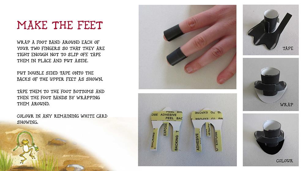 make the feet