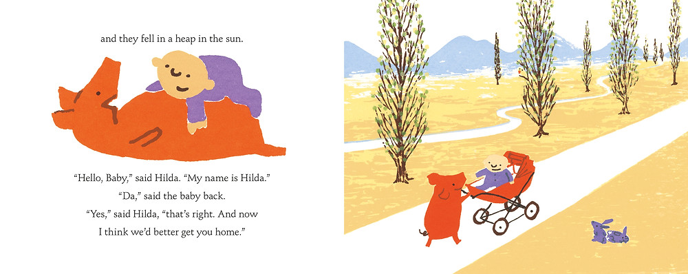 Pages from Hilda and the Runaway Baby