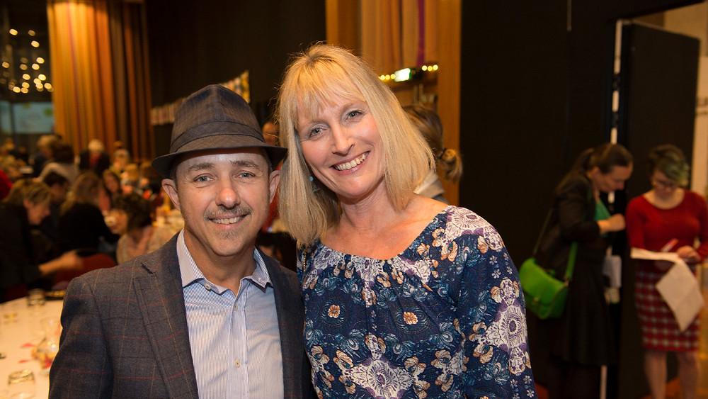 Brian Falkner and Lynette Evans