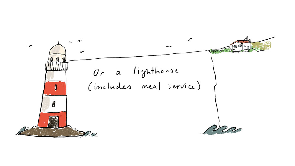 or a lighthouse (includes meal service)