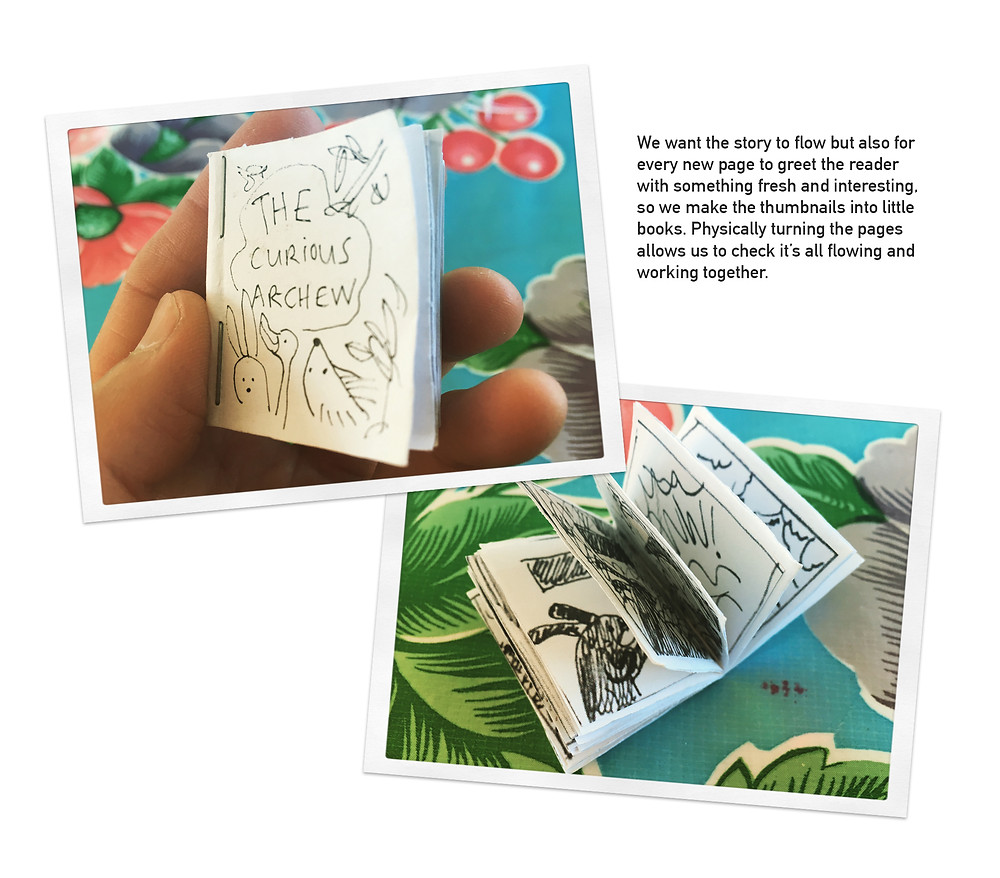 Make a mini book and turn the pages