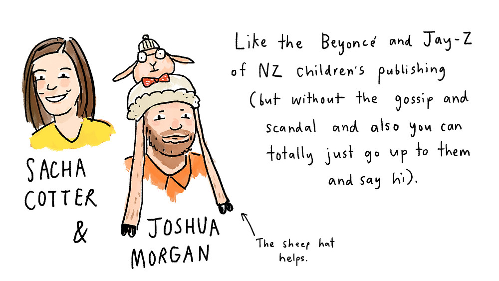 sacha cotter and josh morgan - like the beyonce and jay-z of NZ children's publishing