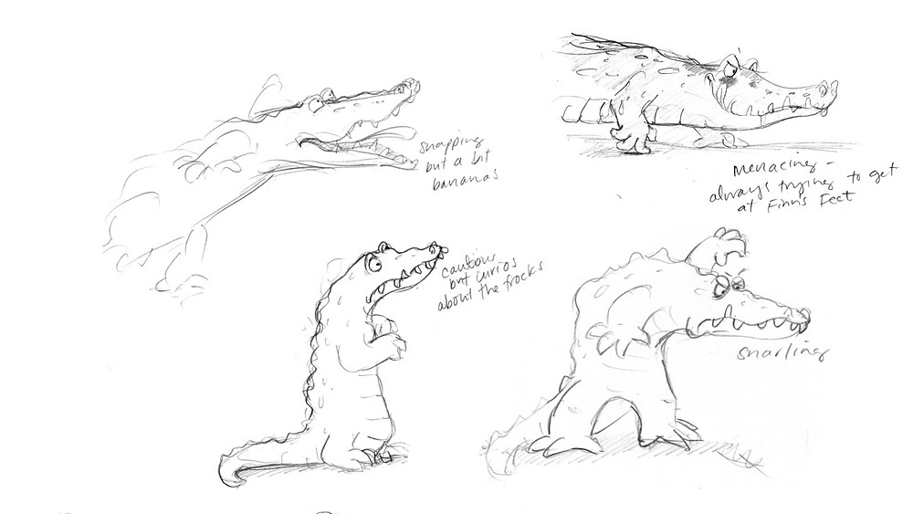 Crocodile sketches