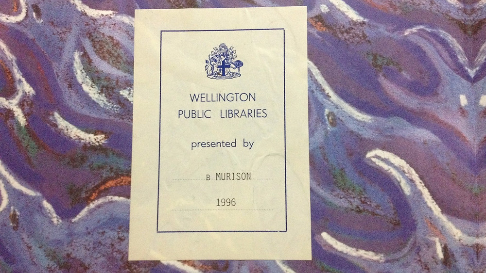 Book's dedication to Wellington Public Libraries