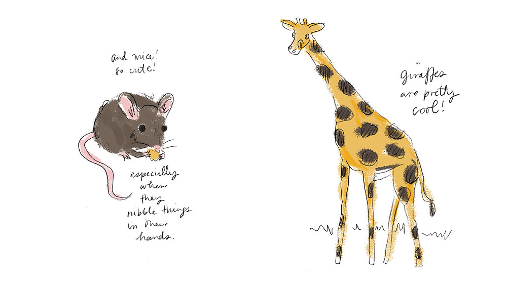 mouse and giraffe