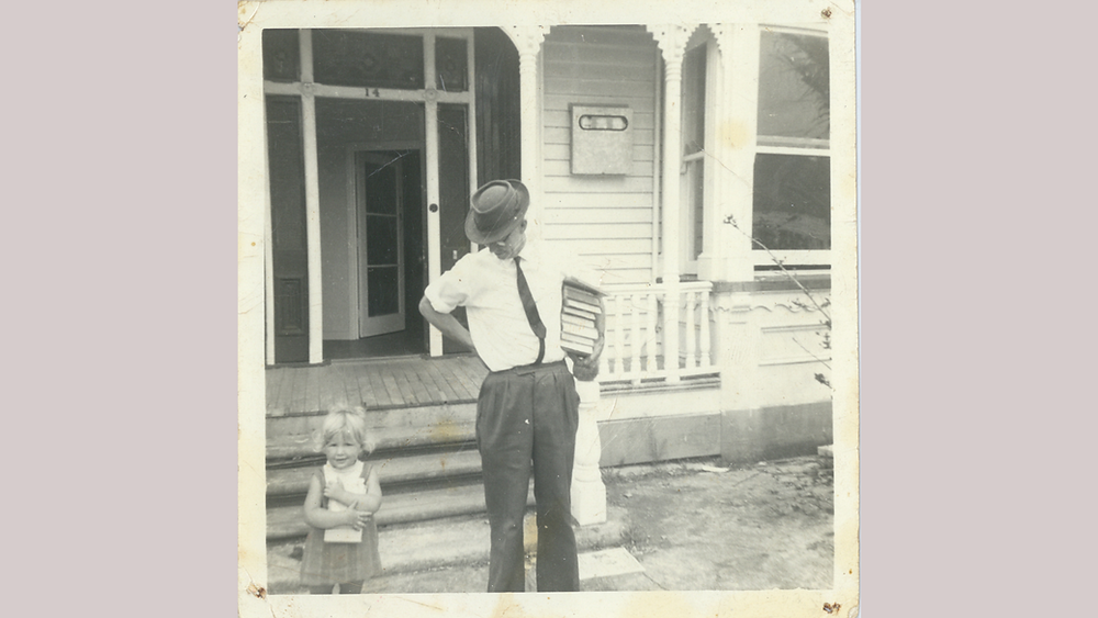 Miro and Grandfather Sam in Devonport in 1966.