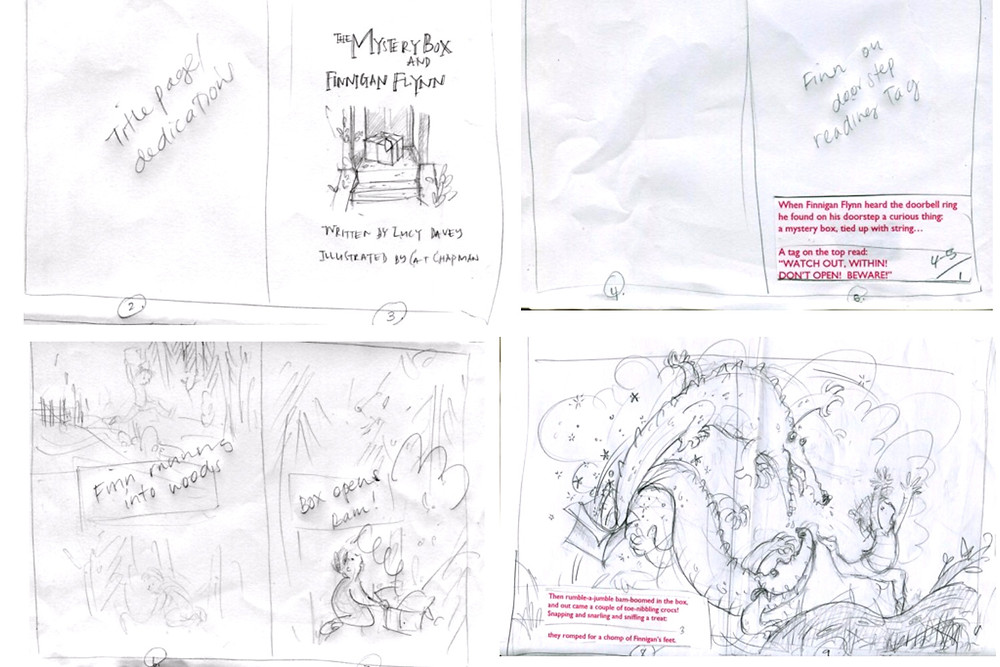storyboard for The Mystery Box and Finnigan Flynn