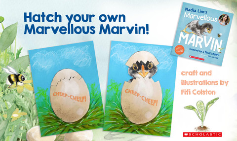Crafts with Fifi: Hatch your own Marvellous Marvin!