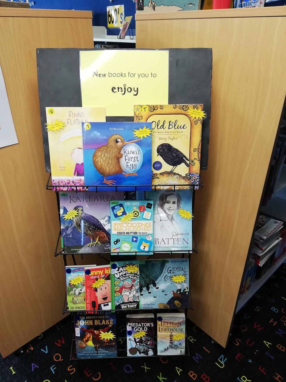 new books shelf