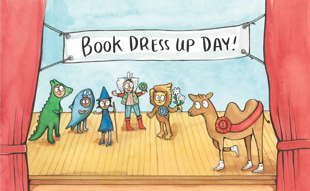 Sarah's book dress up day kids.