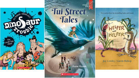 Three Kiwi chapter books for younger readers