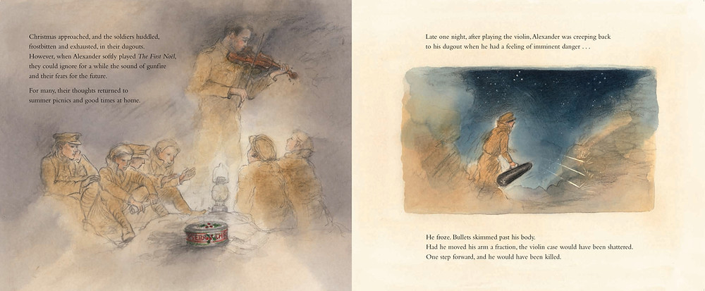 spread from the anzac violin