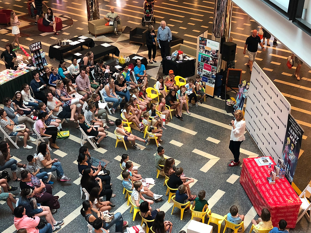 Jaceuqline Harvey presenting at Westfield in Perth