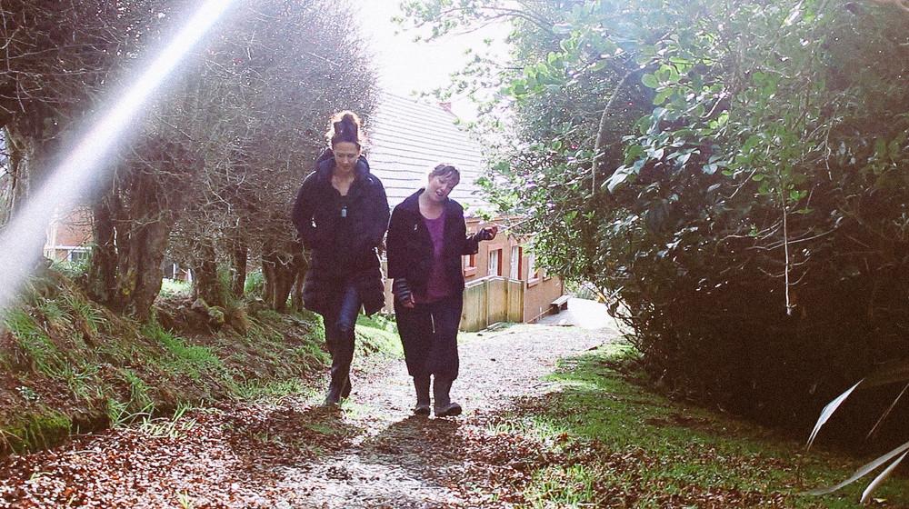 Kitty and Kirsten on an Ōtakou stroll.