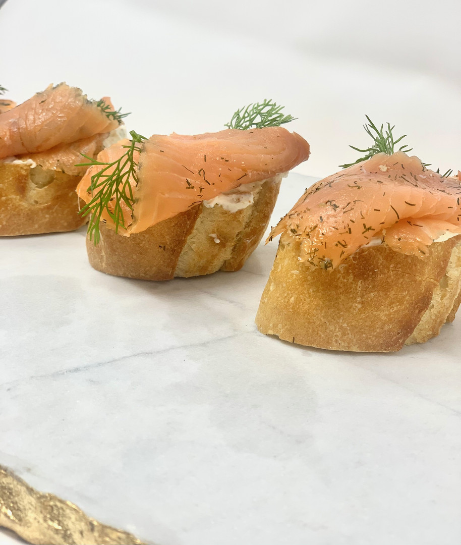 Salmon Crostini with Dill Cream Cheese