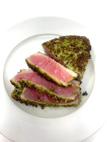 Wasabi Sesame Seed Seared Ahi Tuna