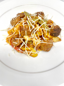 Pasta Diavalo with Italian Sausage and Peppers
