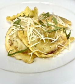 Mushroom Ravioli with Sage Brown Butter