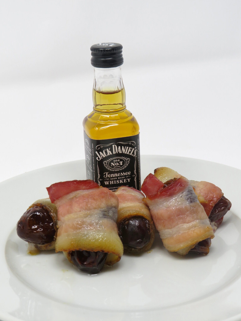 Bourbon Bacon Wrapped Dates