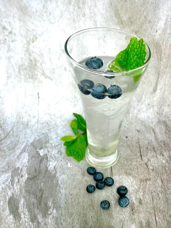 Blueberry Basil Gin
