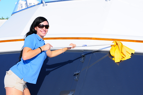 5 foot shammy drying mop for boats