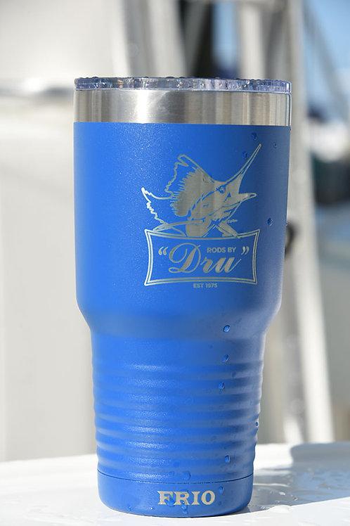 Rods by Dru Tumbler Cooler Cup 30 oz Blue/Black