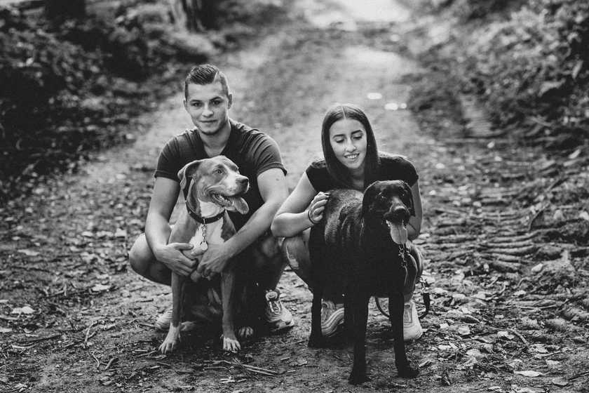 Paar-Hunde-Fotografie-schwarz-weiss
