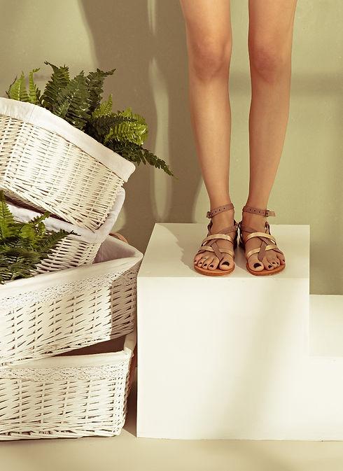 Sandalaki Aiolos Sand Handmade Greek Leather Sandals
