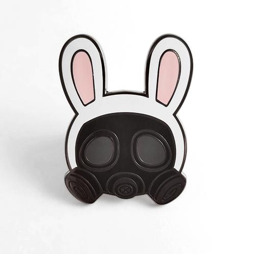Gas Mask Bunny Pin
