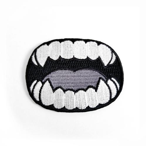 Eyes 'n Teeth Iron-on Patch (Teeth)