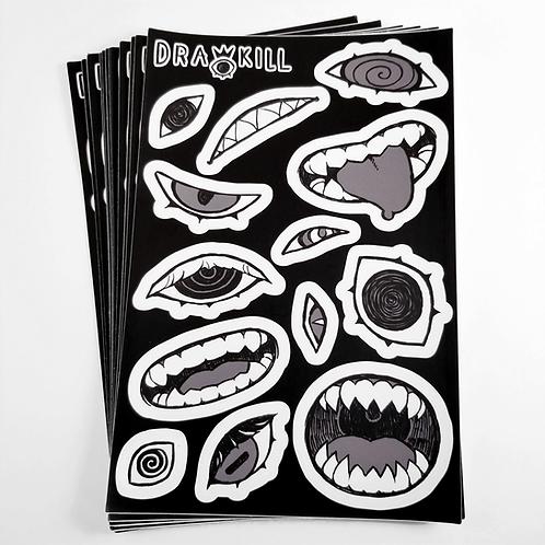 Eyes 'n Teeth Sticker Sheet