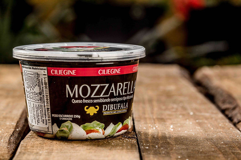 Mozarella Ciliegine 17x20 250 gr. Dibúfala