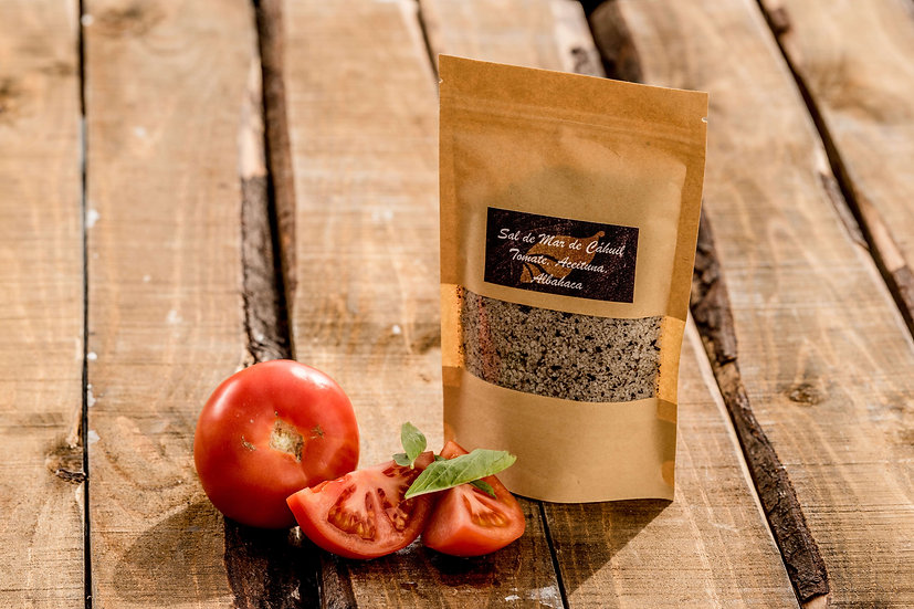 Sal de Mar Cáhuil Tomate Aceituna Albaca 250 gr.