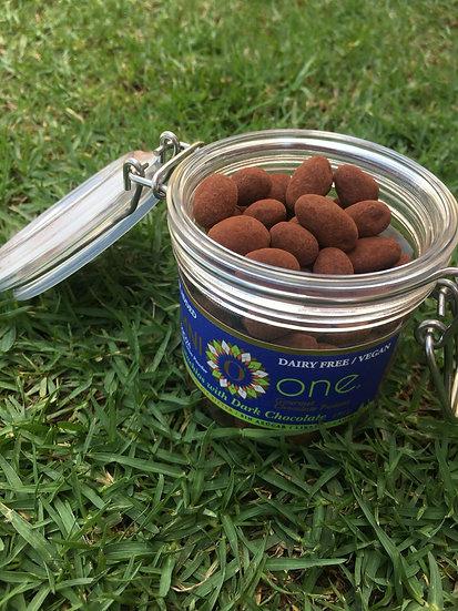 Pistachos bañados en Cacao Sin Azúcar y sin Lácteos 150 gr.