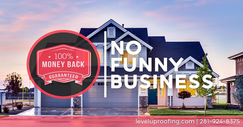 100 Percent Money Back Guarantee - New Roof Installations