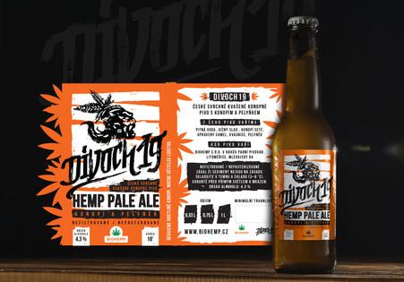 Etiketa na konopné pivo
